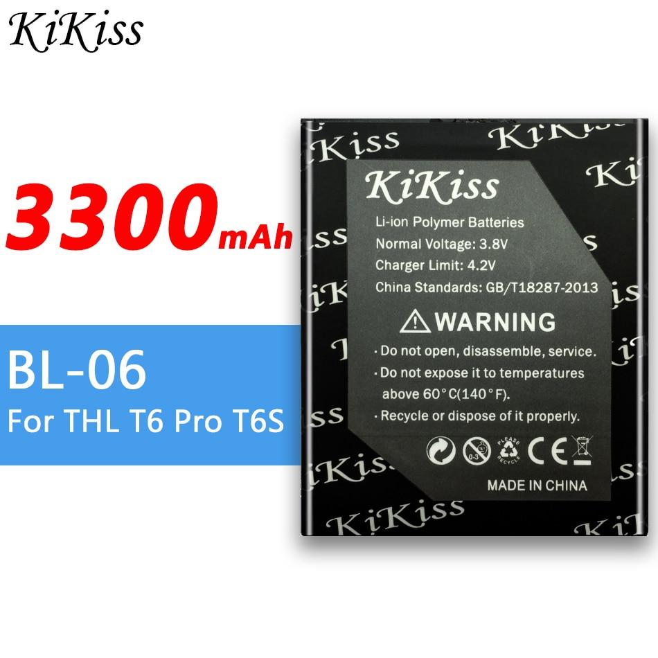 BL-06 3300mAh para THL T6 Pro T6S BL 06 teléfono inteligente batería de alta capacidad para THL T6 Pro T6S
