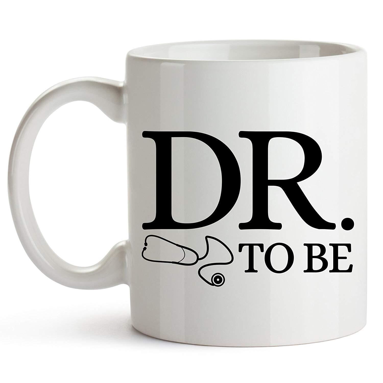 Taza de café de Dr. To Be, 11 onzas, divertida taza de estudiante de medicina, taza de Escuela de Medicina, Escuela de Medicina
