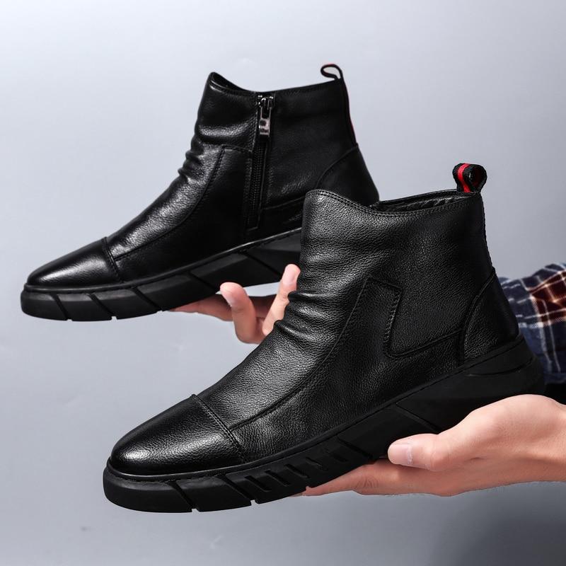 Männer Casual Schuhe High Top Sneakers Zip Mode Schuhe Männliche Straße Freizeit Schwarz Schuhe Zapatos De Hombre Schuhe Erwachsene Krasovki