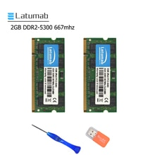 Latumab 2GB 4GB DDR2 667mhz PC2 5300 Laptop Geheugen SoDimm Ram Geheugen 200Pins Hoge Kwaliteit Notebook module SODIMM 1.8V RAM