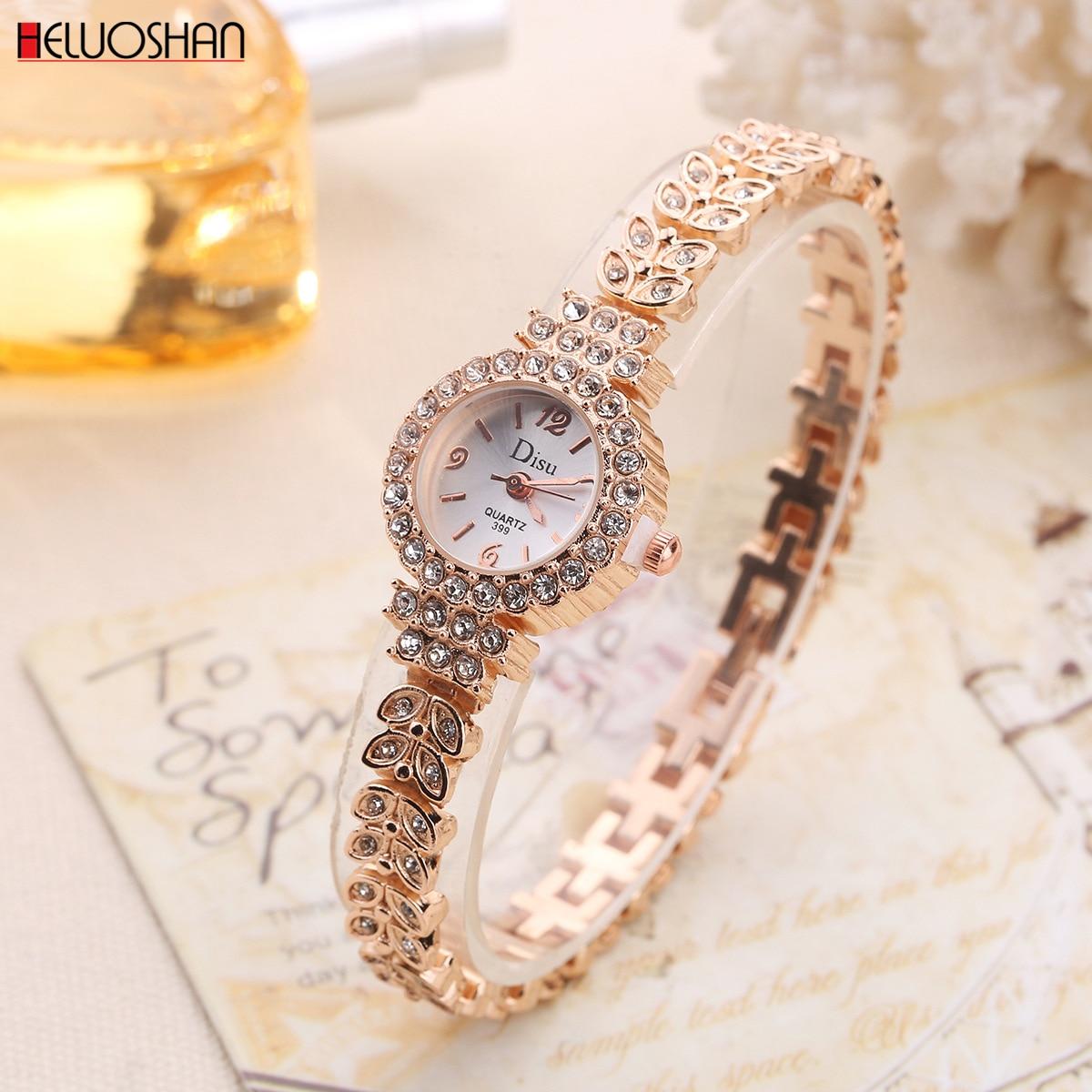 New Gold Women Bracelet Watch Luxury Leaves Shape Alloy Band Quartz Wrist Watches Women Fashion Luxury Dress Watches reloj mujer