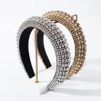 new colorful sponge rhinestone headband european and american baroque headband wide jeweled rhinestone headband