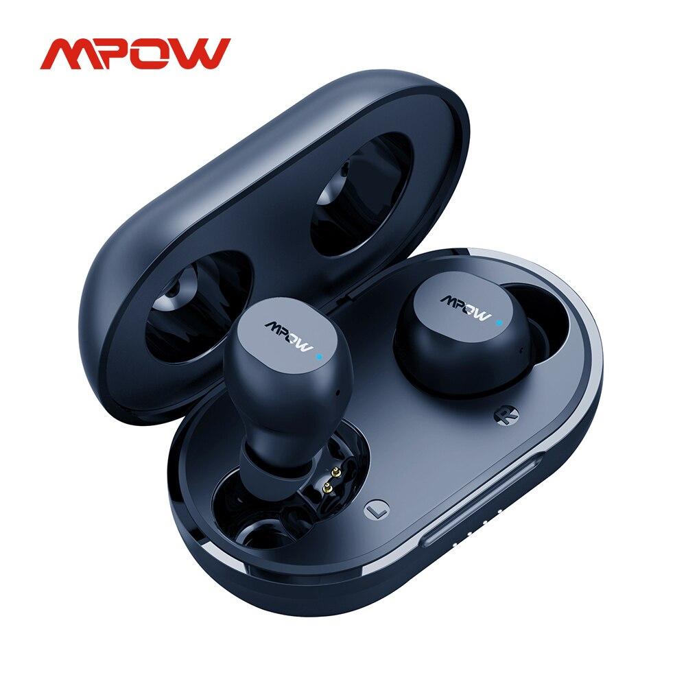 Беспроводные наушники Mpow M12, TWS наушники с глубокими басами, водонепроницаемость IPX8, время работы 25 часов, для спортивных упражнений, Grm
