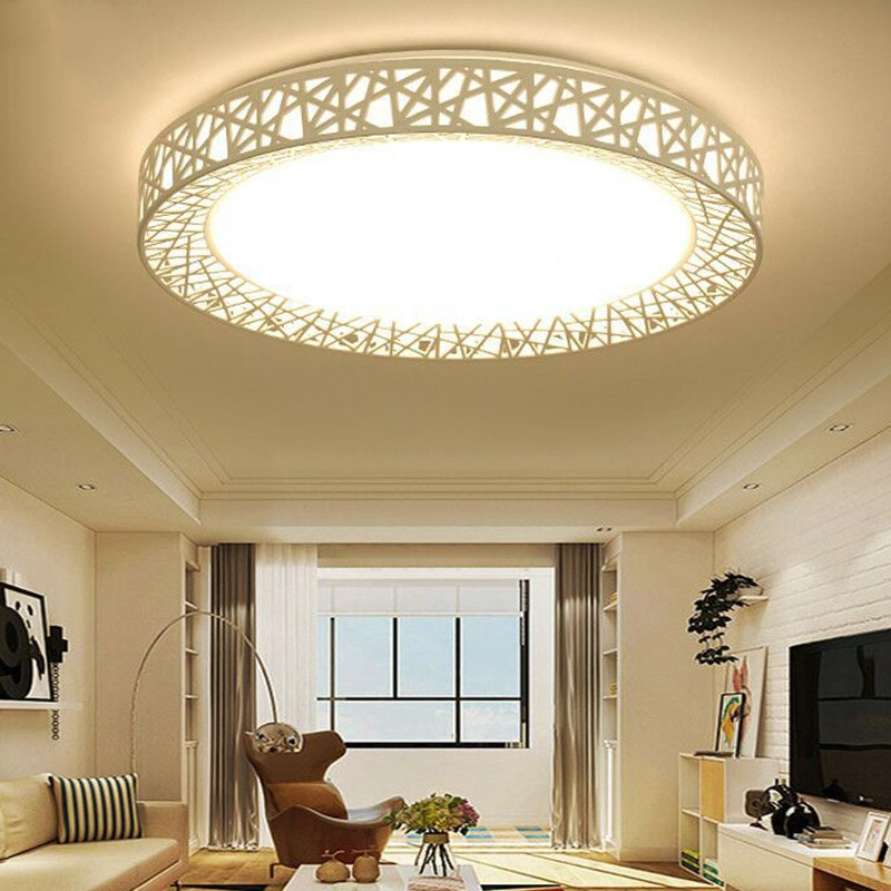 LED Ceiling Light Bird Nest Round Lamp Modern Fixtures Modern Surface Ceiling Lamp For Living Room Bedroom Kitchen @LS