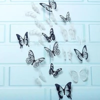 18pcs 3d black and white butterfly sticker art wall decal home decoration room decor anime wall decor %d0%bf%d0%be%d1%81%d1%82%d0%b5%d1%80%d1%8b %d0%bd%d0%b0 %d1%81%d1%82%d0%b5%d0%bd%d1%83 %d1%85%d0%be%d1%87%d1%83