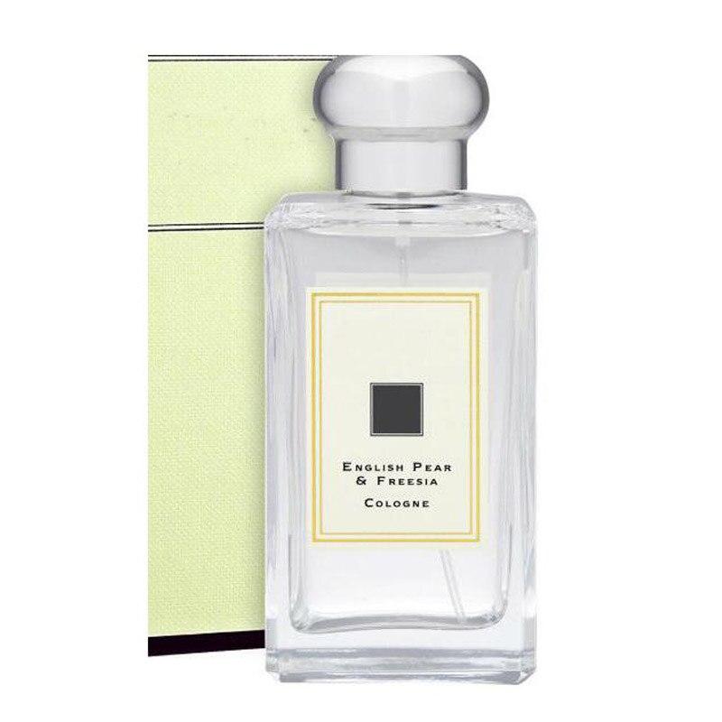 Perfume London de alta calidad, rosas rojas, Perfume inglés de albahaca, pera, Lima, 100ml, 3,4 Fl. Oz Botella de cristal completo en aerosol 7 estilos