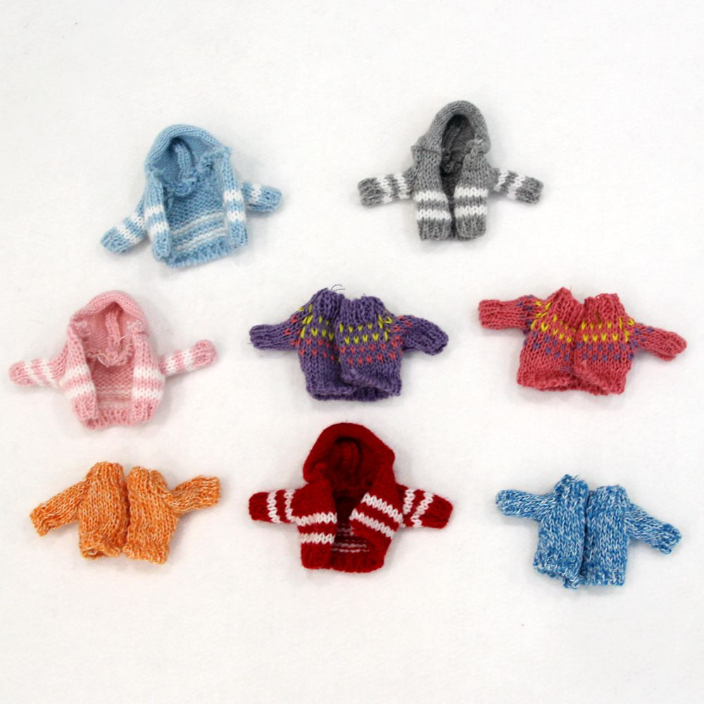 8 Colors Cool 1/12 BJD Doll Clothing Sport Coat Winter Sweater for  Ob11 Doll Accessories Gift недорого