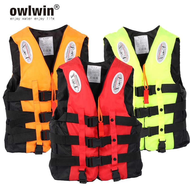 Universal Outdoor Swimming Boating Skiing Driving Vest Survival Suit Polyester Life Jacket for  Children with Pipe S -XXXL