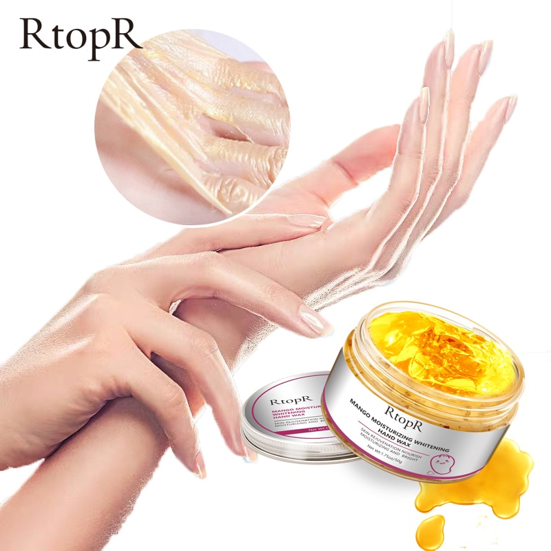 RtopR Mango Moisturizing Hand Wax Whitening Hand Mask Exfoliating Calluses Nourishing Hand Care Anti-Aging Improve Dryness 50g