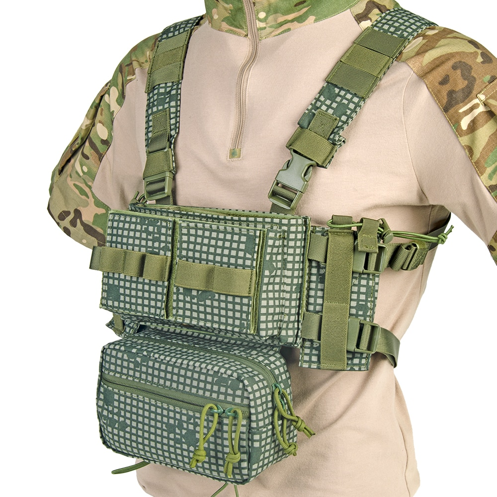 Airsoft Tactical Vest MK3 Chest Rig With Drop Down Pouch M4 AK Magazine Inserts Micro Chassis 500D Nylon Paintball Accessories