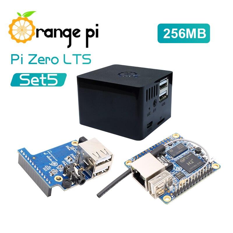 Orange Pi zero LTS набор 5: orange Pi zero LTS 256 МБ + плата расширения + черный чехол макетная плата для Raspberry Pi