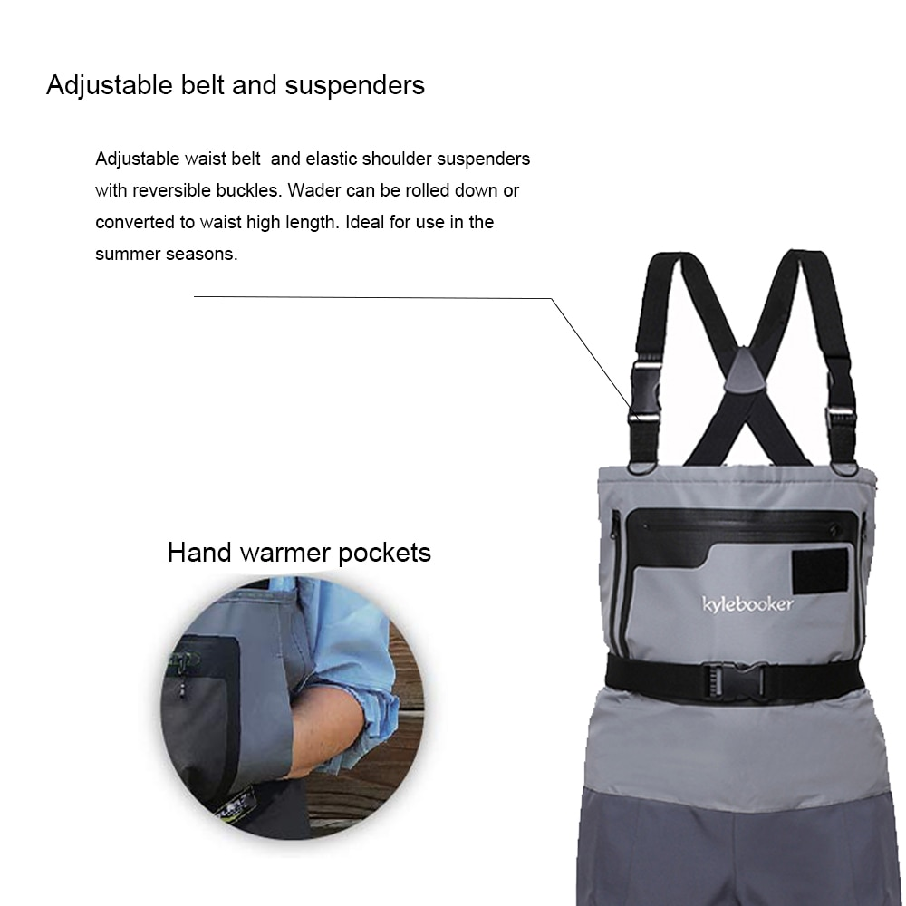 5-Ply Durable and Comfortable Breathable Stocking Foot Chest Wader for Men and Women River Waders for Duck Hunting Fly Fishing enlarge