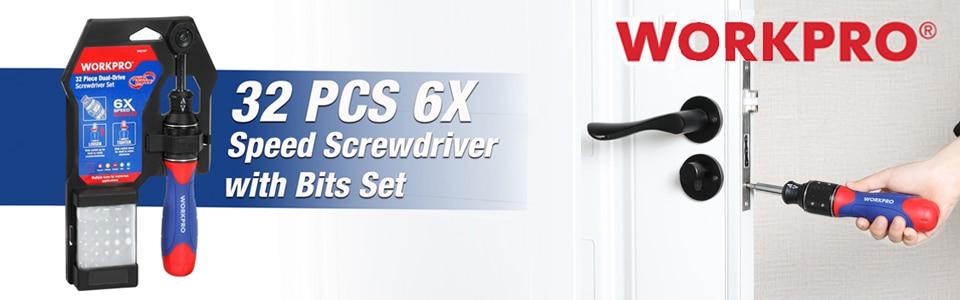 32 pcs Speed Screwdriver with Bits set