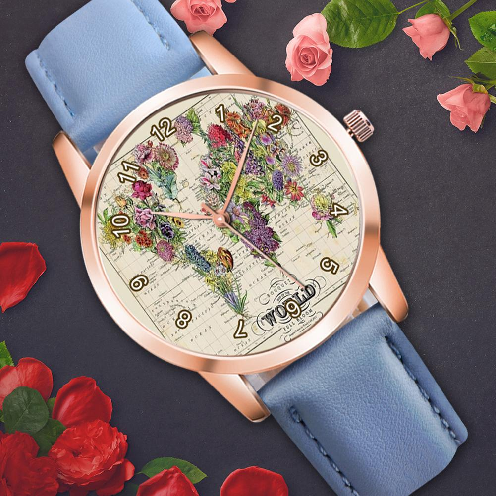 Reloj único para mujer, Flor retro, mapa de hierba, Quart, relojes para niños, pantalla analógica, elegante reloj para niños, pulsera, reloj, mochilas, joyería para niños