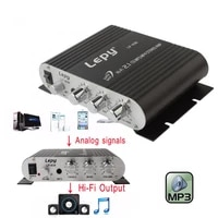 lepy lp 838 power car amplifier hi fi 2 1 mp3 radio audio stereo bass speaker booster player for motorbike home no power plug