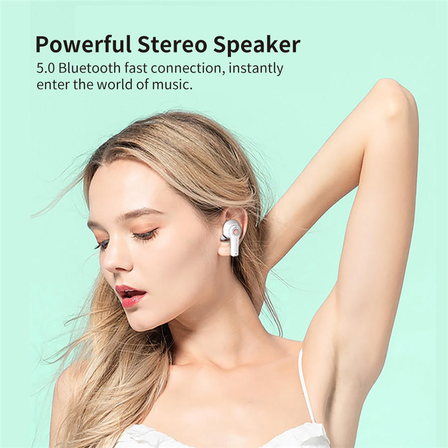 TS-100 TWS Wireless Bluetooth 5.0 Earphone With Mic Charging Box Headphone Game Headsets Sport Earbuds For Android PK i12 i90000 enlarge