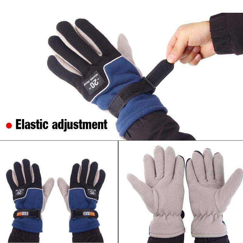 1 Pair Fishing Gloves Waterproof Mitten Anti-slip Winter Climbing Glove Hiking Camping Riding Outdoor Fishing Gloves enlarge