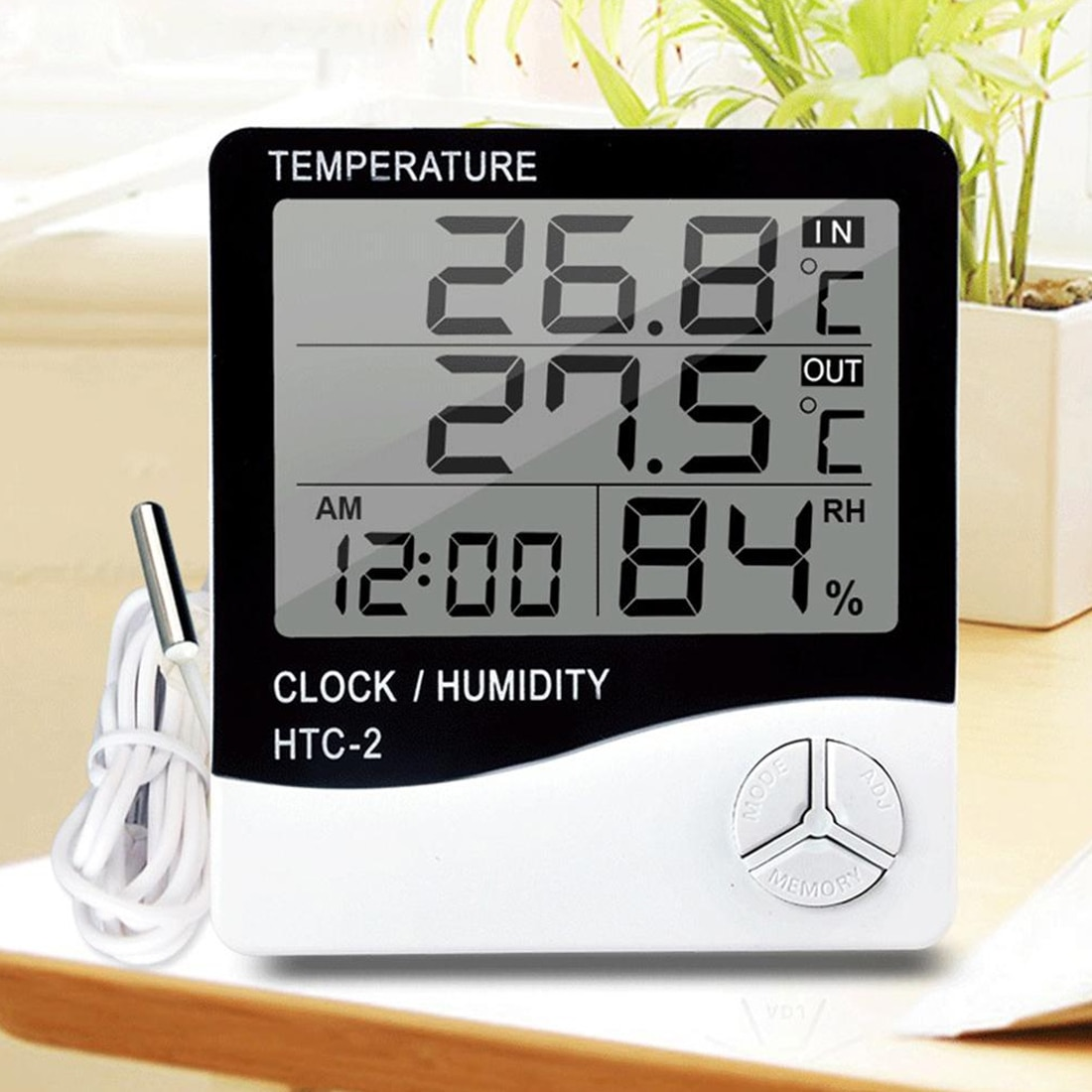 Portable LCD Digital Temperature Humidity Meter -1 /-2 Indoor Outdoor Hygrometer Thermometer Tester