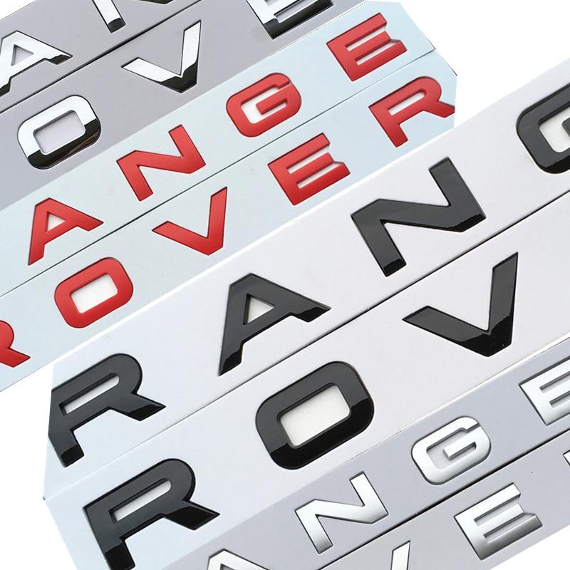 Brillante negro mate plata acero gris cromo emblema ABS coche estilo campana tronco letras Logo insignia para RANGE ROVER
