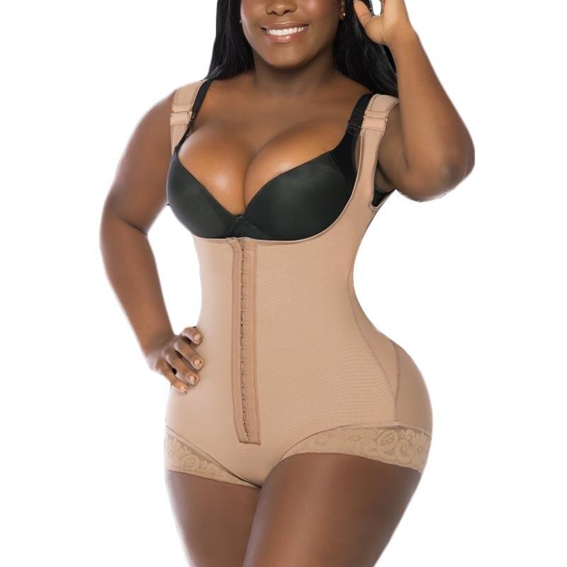 المرأة كاملة بذلة مفصلة لشكل الجسم Skims قابل للتعديل حزام الكتف ضغط قوي التخسيس الدانتيل فاخاس ريدوتوراس Y modeladas Mujer