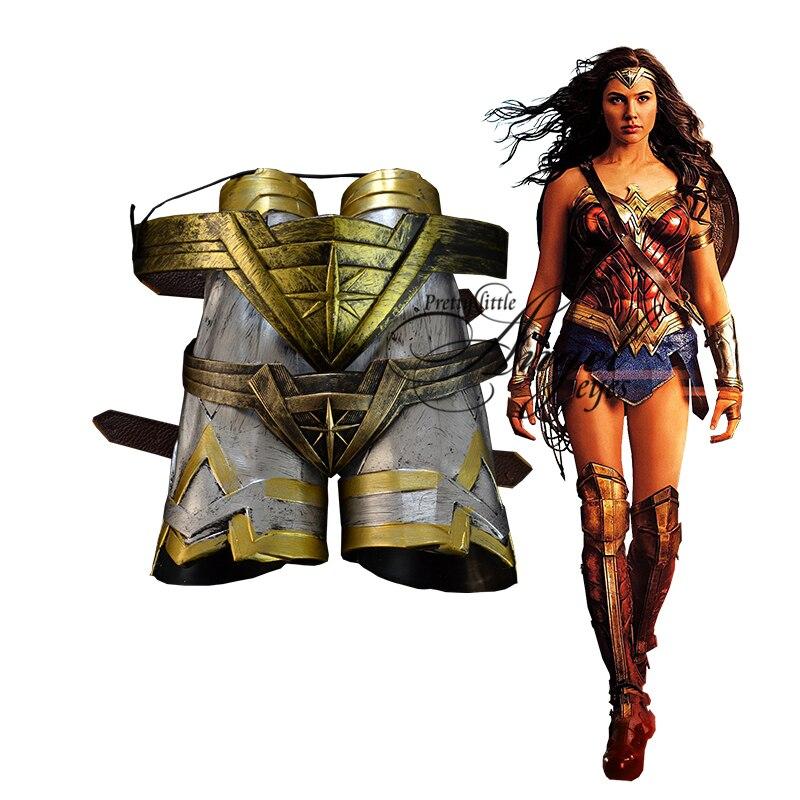 Disfraz de superhéroe de CC Wonder Woman Cosplay fiesta de Halloween bracks casco