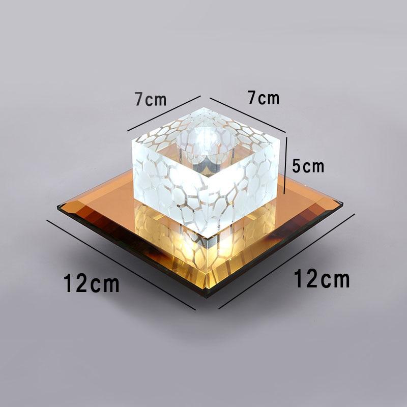 Lámpara de techo Led de cristal claro para sala de estar, decoración...