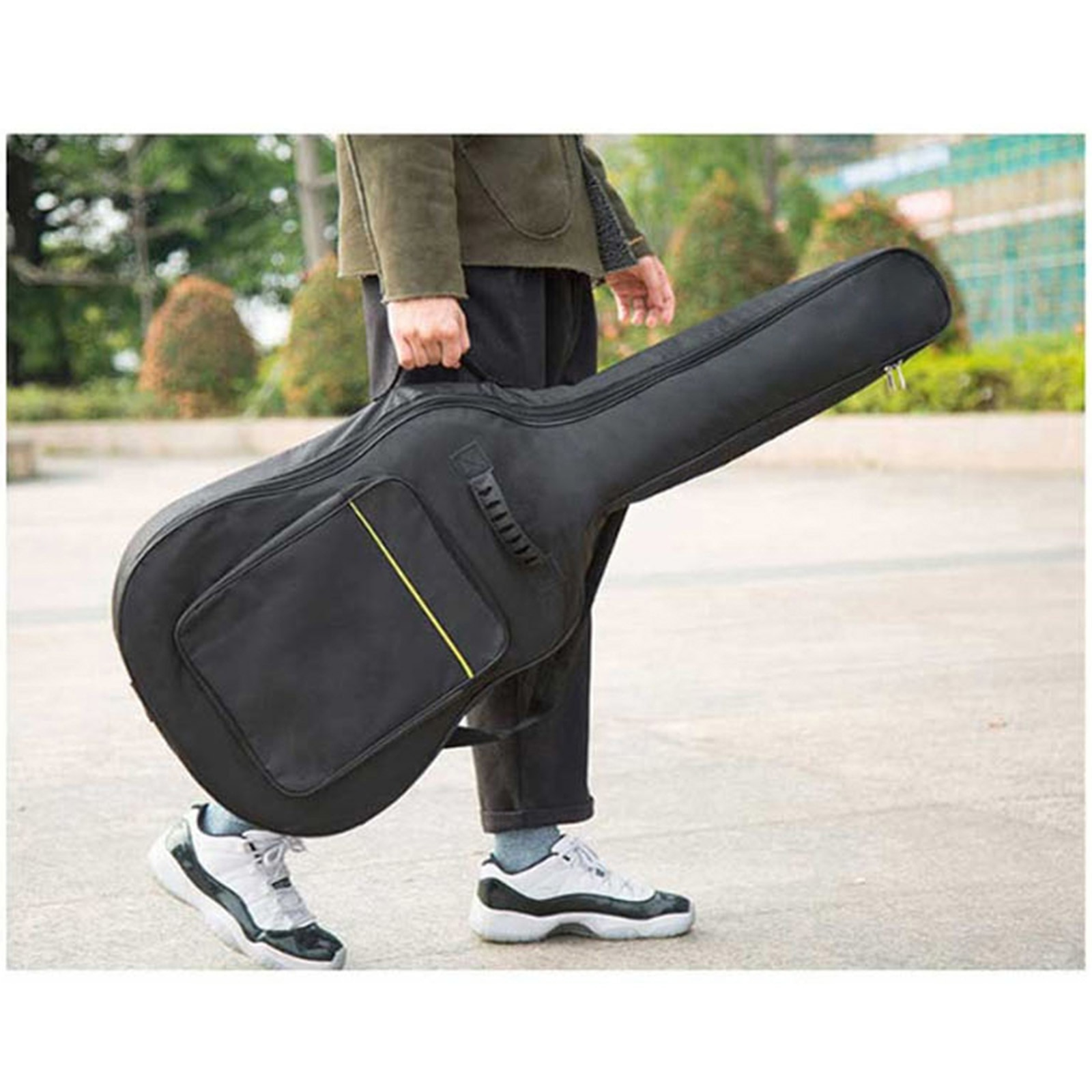 39'' Guitar Gig Case Shoulder Bags Backpack Hand Bag with Adjustable Straps trumpet gig bag box case backpack 600d water resistant oxford cloth with adjustable dual shoulder strap new arrival