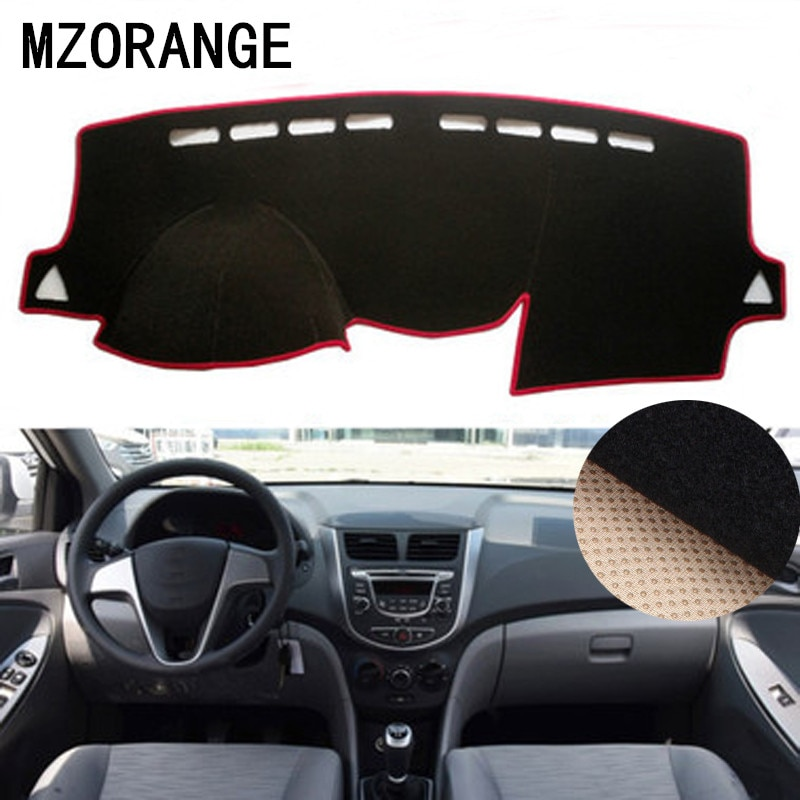 Dashboard Cover for Hyundai Solaris/Accent/Verna 2012 2013-2015-2017 Sun Shade Dash Board Anti-Slip Accessories Pad Dashmat