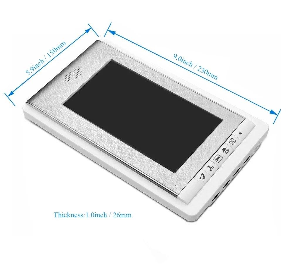 2/3/4 Units Apartment Intercom System Video Door Phone Intercom Kits Aluminum Alloy Camera 7