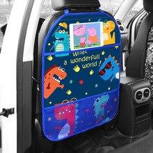 مقعد السيارة الخلفي حامي اللمس نوع شفاف متعدد الاستخدام تخزين جيب ركلة حصيرة مقعد السيارة الخلفي حماة تستيفها البلاط