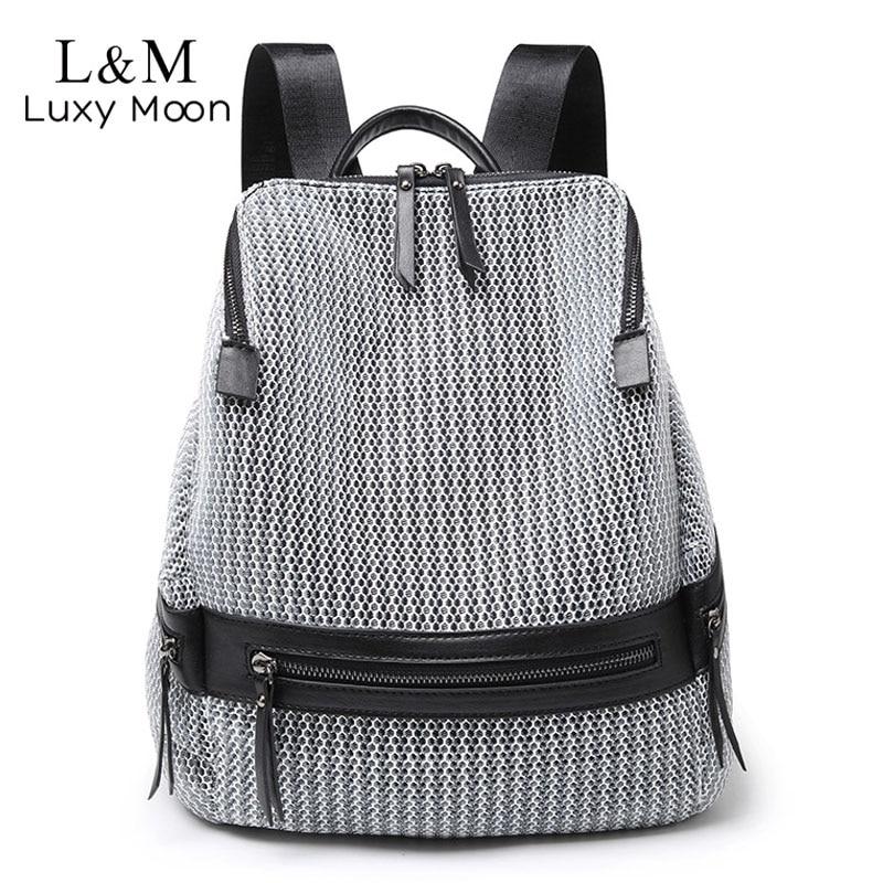2020 Women's Nylon Backpack Casual Women Large Backpacks School Bags for Teenage Girls Female Lightweight Travel Rucksack XA250H