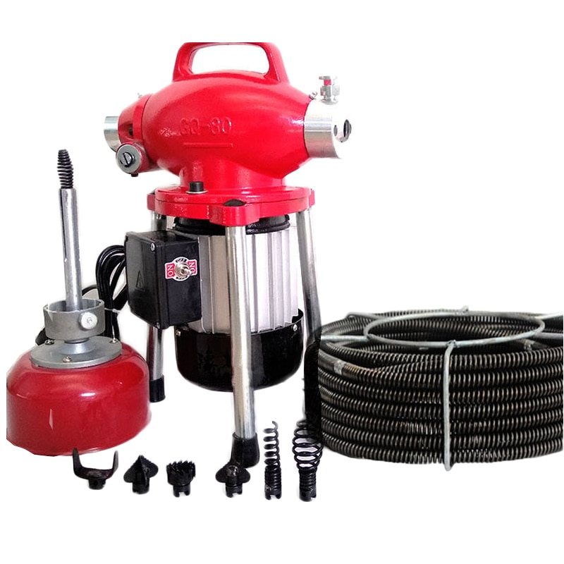 Maquina de dragado automatico de herramientas de drenaje de tuberias eléctricas de bloqueo de inodoro transparente profesional