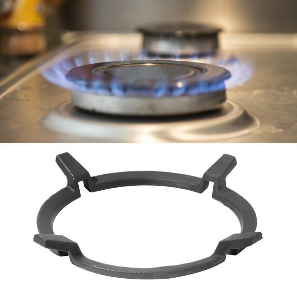 Wok Pan apoyo Rack de estante para fogón negro Wok está hierro fundido para quemadores de Gas placas cocinas accesorios de herramientas de cocina
