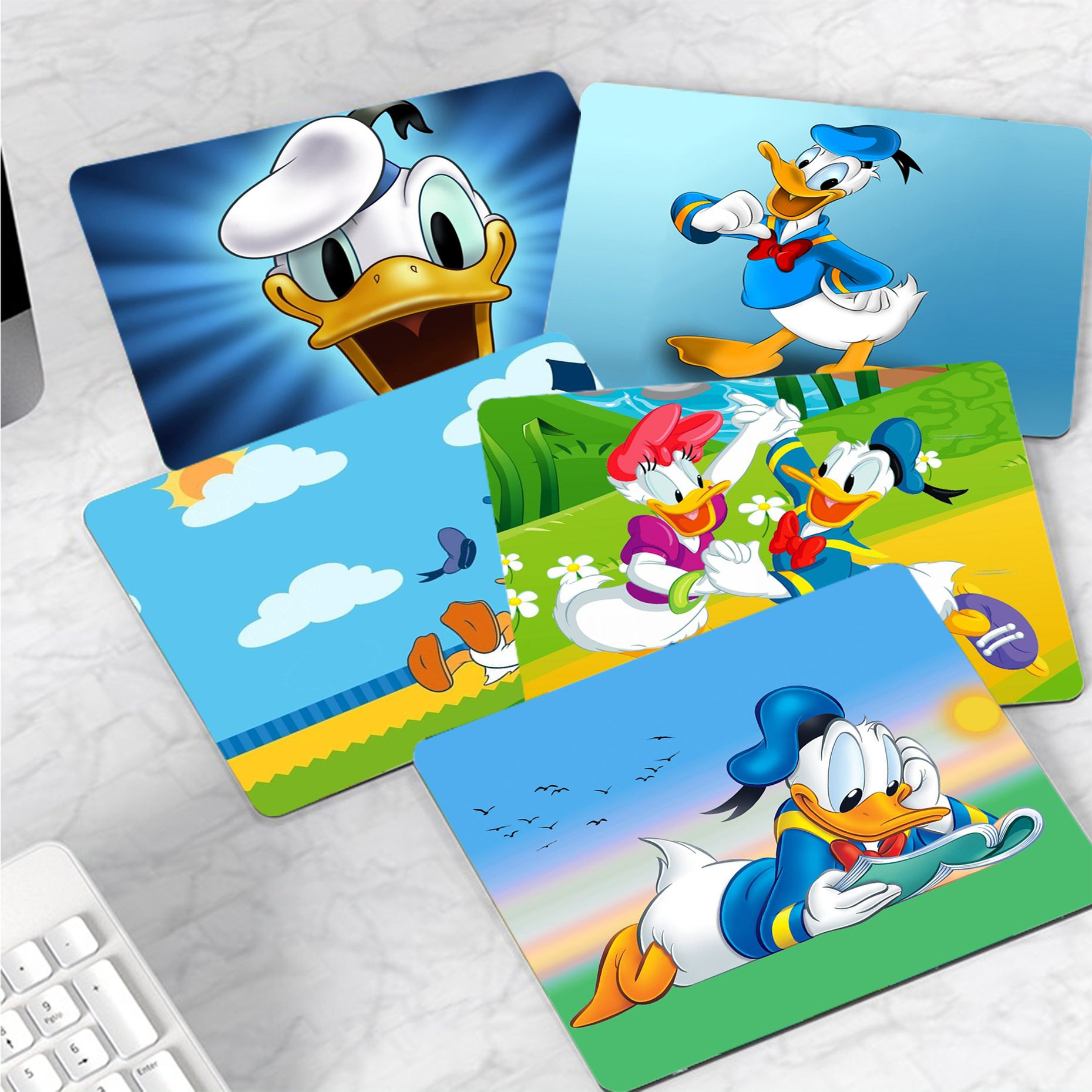 Disney Donald Duck Customized MousePads Computer Laptop Anime Mouse Mat Rubber PC Computer Gaming mouse pad maiya funny tie dye customized mousepads computer laptop anime mouse mat smooth writing pad desktops mate gaming mouse pad