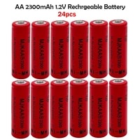aa 24pcs 1 2v 2300mah ni mh batteries 2a 100 high quality neutral rechargeable battery for cameras toys pre charged