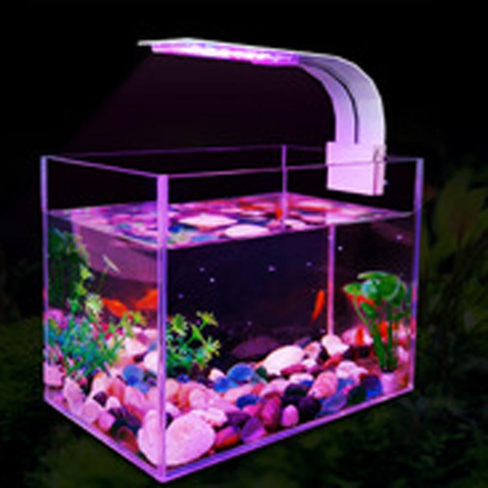 Adjuatble 3 Modes LED Aquarium Lights 5W 10W Fresh Water Plants Grow Light Aquatic Lamps Waterproof Clip on Lamp For Fish Tank