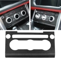 real carbon fiber ac switch volume panel cover frame trim stickers for land rover range sport 2014 2017