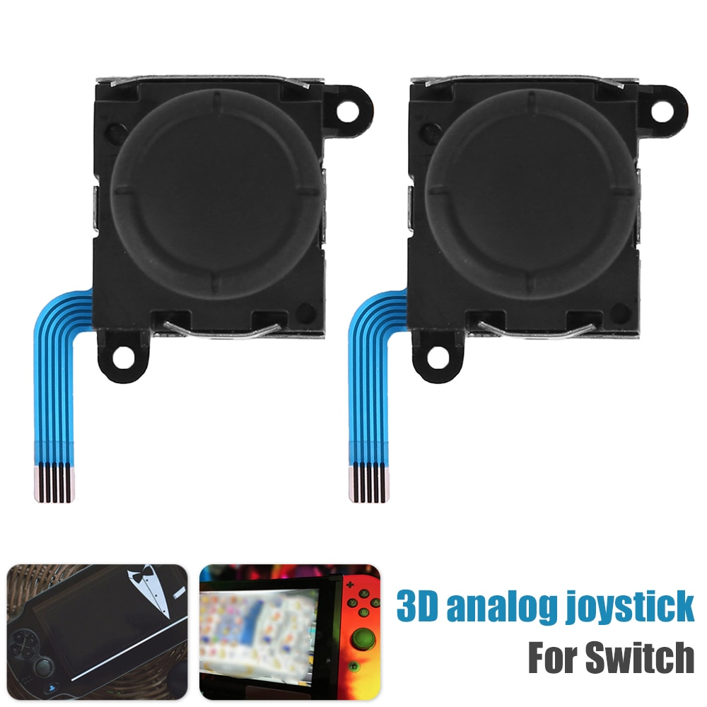 2Pcs 3D Analog Joystick Thumbstick for NINTENDO Switch Joy-Con Controller