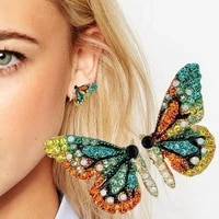 delysia kingcolorful crystal butterfly earrings women dream earrings butterfly wings earrings