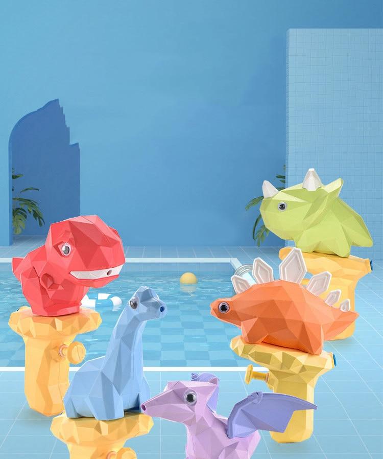 2021 Latest 4 pieces Dinosaur Water Guns Toys Kids Squirt Gun For Child Outdoor Summer Beach Swimmin