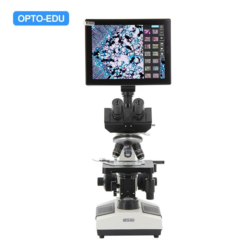 OPTO-EDU A33.1019 Microscopio digital trinocular profesional Lcd Microscopio