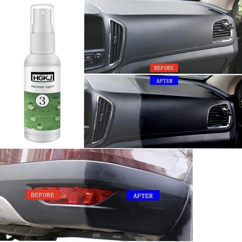 Hot Car Refurbished Agent HGKJ-3 Interior Plastic Care Maintenance Cleaner -SK57 Plastic Rubber Care Car Wash