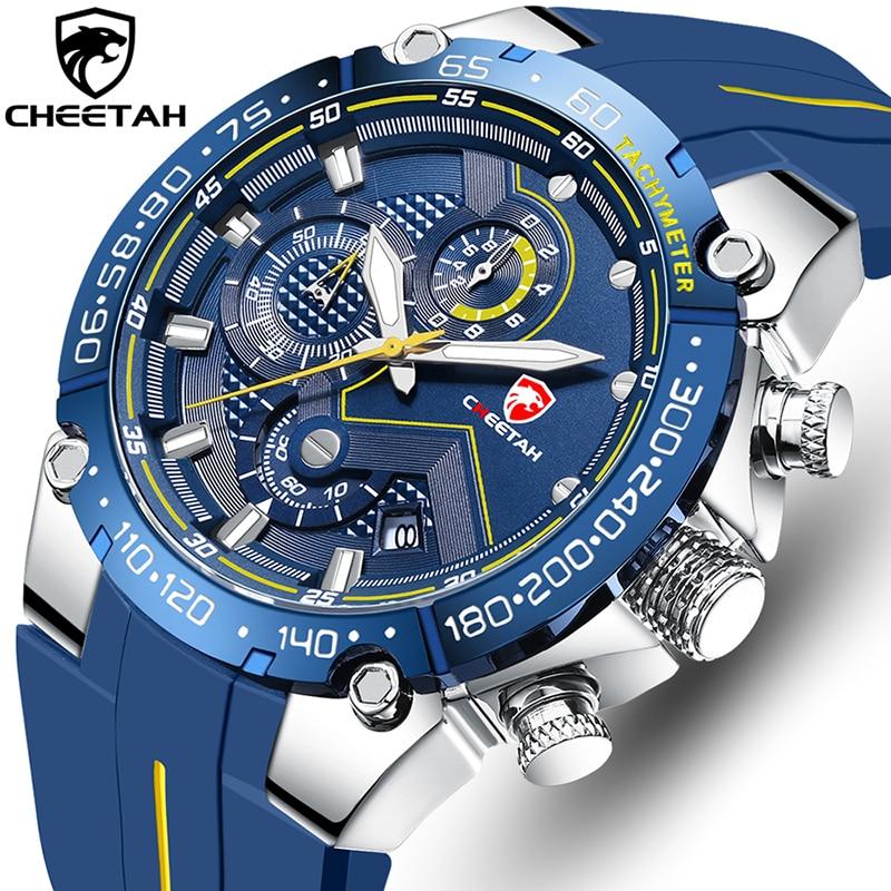 CHEETAH New Watches Mens Luxury Brand Big Dial Watch Men Waterproof Quartz Wristwatch Sports Chronog