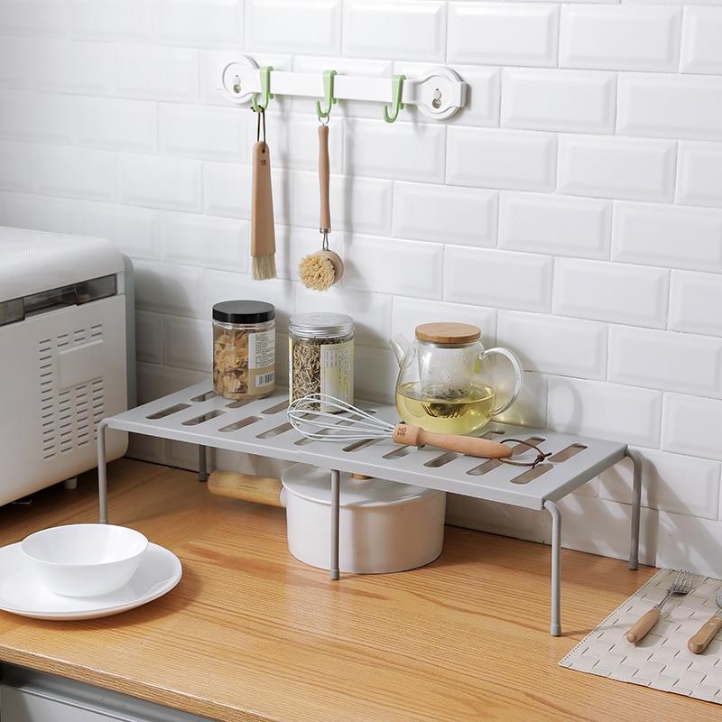 New Adjustable Kitchen Storage Rack Cupboard Shelf Home Closet Organizer Storage Shelf Wardrobe Shoe Organizers Saving Space