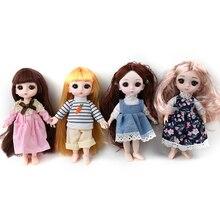 Poupées accessoires 16cm grands yeux poupée Simulation princesse habiller jouet vêtements poupée mode Style enfants enfants cadeau de noël