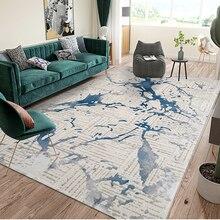 Alfombra gruesa de lujo de estilo nórdico BAIZHENG, alfombra popular grande para sofá de dormitorio infantil, tapices antideslizantes de suelo azul gris dorado