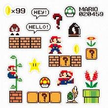 Calcomanías de dibujos animados de Super Mario, pegatinas de papel de decoración bonitas, bricolaje, álbum de recortes, Enmascarar el teléfono, resistente al agua, Paster, Graffiti, nuevo