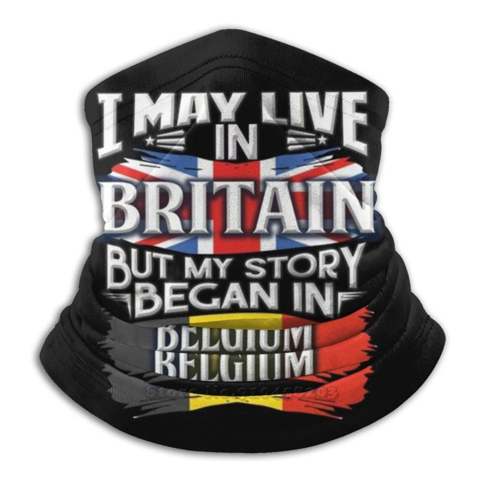 I May Live In Britain But My Story Began In Belgium - Gift For Proud Belgian From Belgium Living In Britain 3D Bandana Face Neck