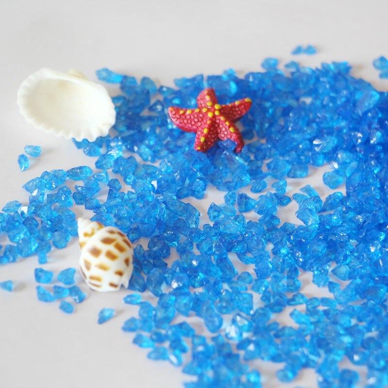 Vaso da Decoração do aquário Fundo Cor de Areia Areia De Vidro Micro-paisagem de Vidro Contas de Vidro Pedra de Areia
