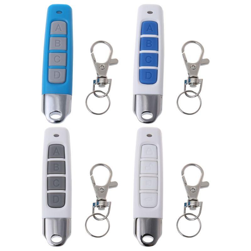 433MHZ 4 botones clon Control remoto transmisor inalámbrico puerta de garaje controlador de copias eléctricas llave de bloqueo antirrobo con